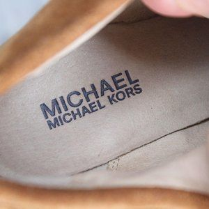 Michael Kors Shoes - Michael Kors Wedge Suede 8.5 M Brown Laced Shoes